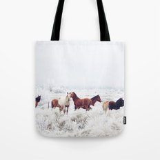 Winter Horseland Tote Bag