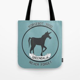 Horsebot 3000 Never Forget Tote Bag