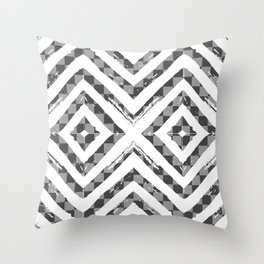 Grey Checkered Paattern Throw Pillow