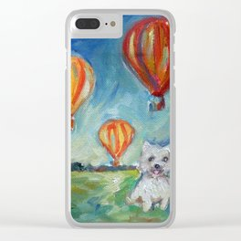 Westie eyes Hot Air Balloons Clear iPhone Case