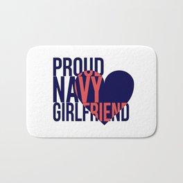Proud Navy Girlfriend Bath Mat