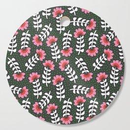 Camelita Retro Folk Flower Cutting Board