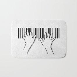 Barcode pianist Bath Mat