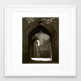 The fort gates Framed Art Print