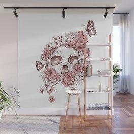 Flower Skull Wall Mural