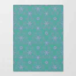 Green garden Swirl Repeating Pattern Canvas Print