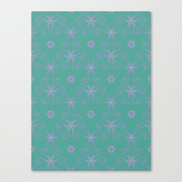 Green garden Swirl Repeating Pattern Canvas Print