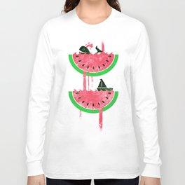 Watermelon falls Final Long Sleeve T-shirt