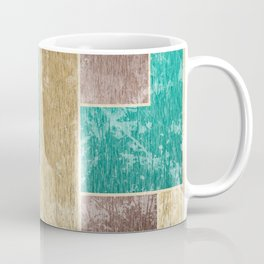 Mod Retro Digital Graphic Old Worn Velveteen Tile Coffee Mug