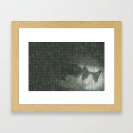 Cloudy day cat Framed Art Print