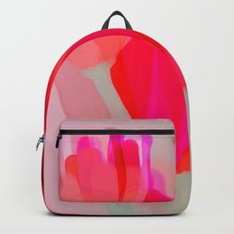 Tulips In Shades Of Red And Pink Backpack