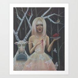 In The Birch Trees- Print Version Art Print