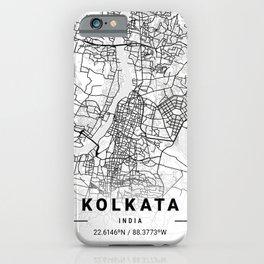 Kolkata Light City Map iPhone Case