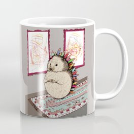 Hedgehog Artist Coffee Mug