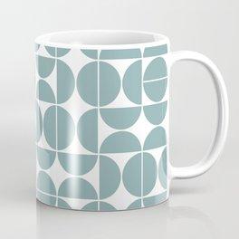 Mid Century Modern Geometric 04 Glass Blue Coffee Mug