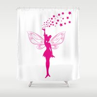 fairy Shower Curtains featuring fairy by Li-Bro
