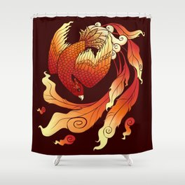The Fire Bird Known As A Phoenix Shower Curtain