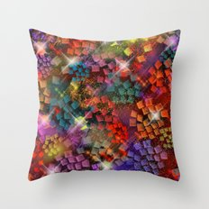 Stained Glass look Series 3 Throw Pillow