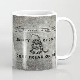 Culpeper Minutemen flag, Worn distressed version Coffee Mug