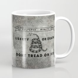 Culpeper Minutemen flag, Worn distressed version Coffee Mug