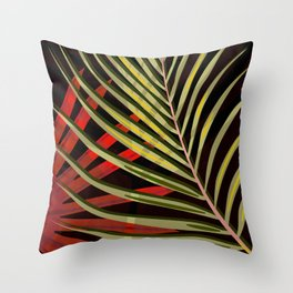 TROPICAL LEAVES & BLACK no2 Throw Pillow
