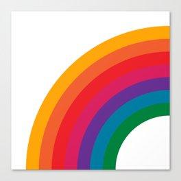 Retro Bright Rainbow - Left Side Canvas Print