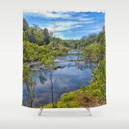 Idyllic River View Shower Curtain