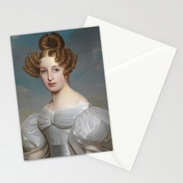 Portrait of Elise Dorothea Friederike by Ernst Thelott Stationery Cards