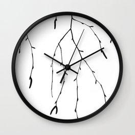 Betula pendula Wall Clock