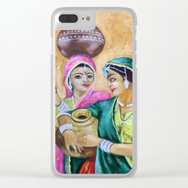 Indian Lady Clear iPhone Case