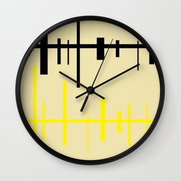 lineas de expresion-cicatrices Wall Clock