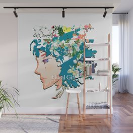 Flower Girl Wall Mural