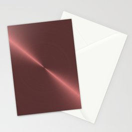 Metalic Pink Rose Gold Machined Metal Stationery Cards