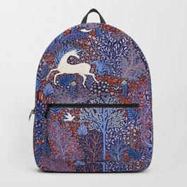 Unicorns in a nocturnal Forest Backpack