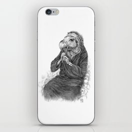 Vulture playing tin whistle iPhone Skin