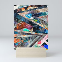 Triangle Forest Abstract Rainbow Mini Art Print