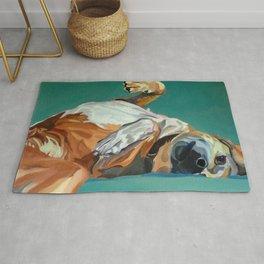 Johnny the Dog Rests Rug