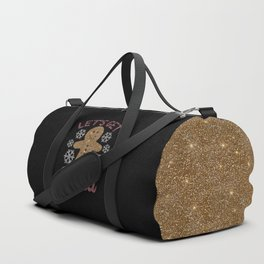 Let's Get Baked, Funny, Christmas, Quote Duffle Bag