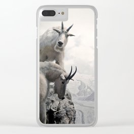 Hi, we are the mountain goats Clear iPhone Case