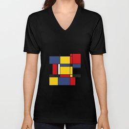 Downtown, Tribute to Mondrian Unisex V-Neck