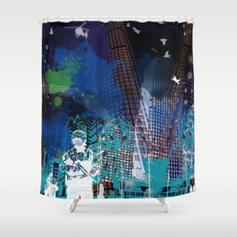 A tale of two cities 2 Shower Curtain