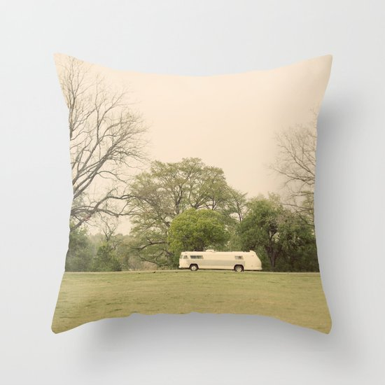 lost in the trees::austin Throw Pillow