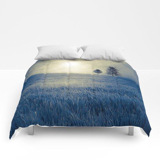 Blue field Comforters