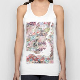 Montreal map canada Unisex Tank Top