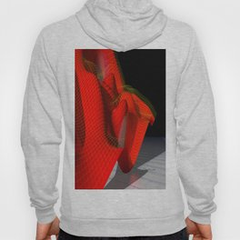 Waved red surface Hoody