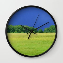 landscape with dramatic sky Wall Clock