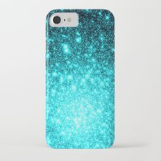 Turquoise Ombre Stars iPhone 8 Slim Case