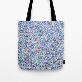 Blue Digital Glitter with Vibrant Sparkles Tote Bag