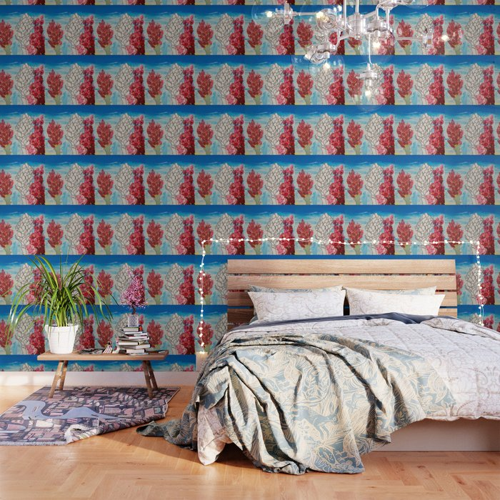 Alpinia purpurata – Red Ginger Flower Wallpaper