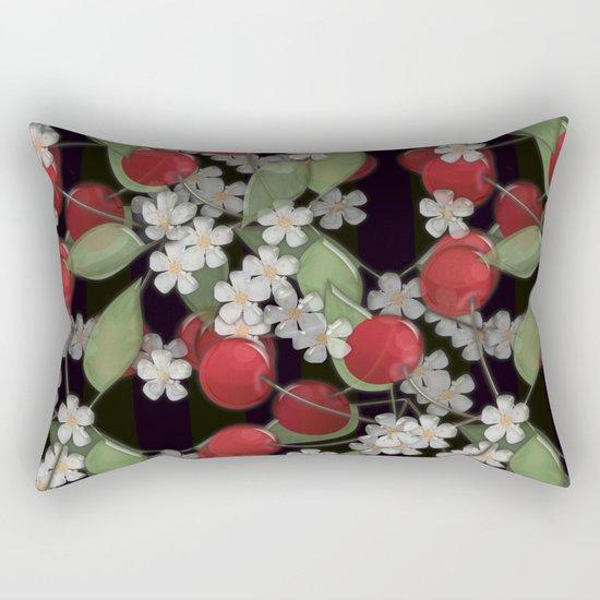Cherry Charm, Imitation of glass Rectangular Pillow